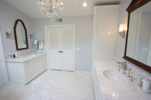 white shaker custom cabinets