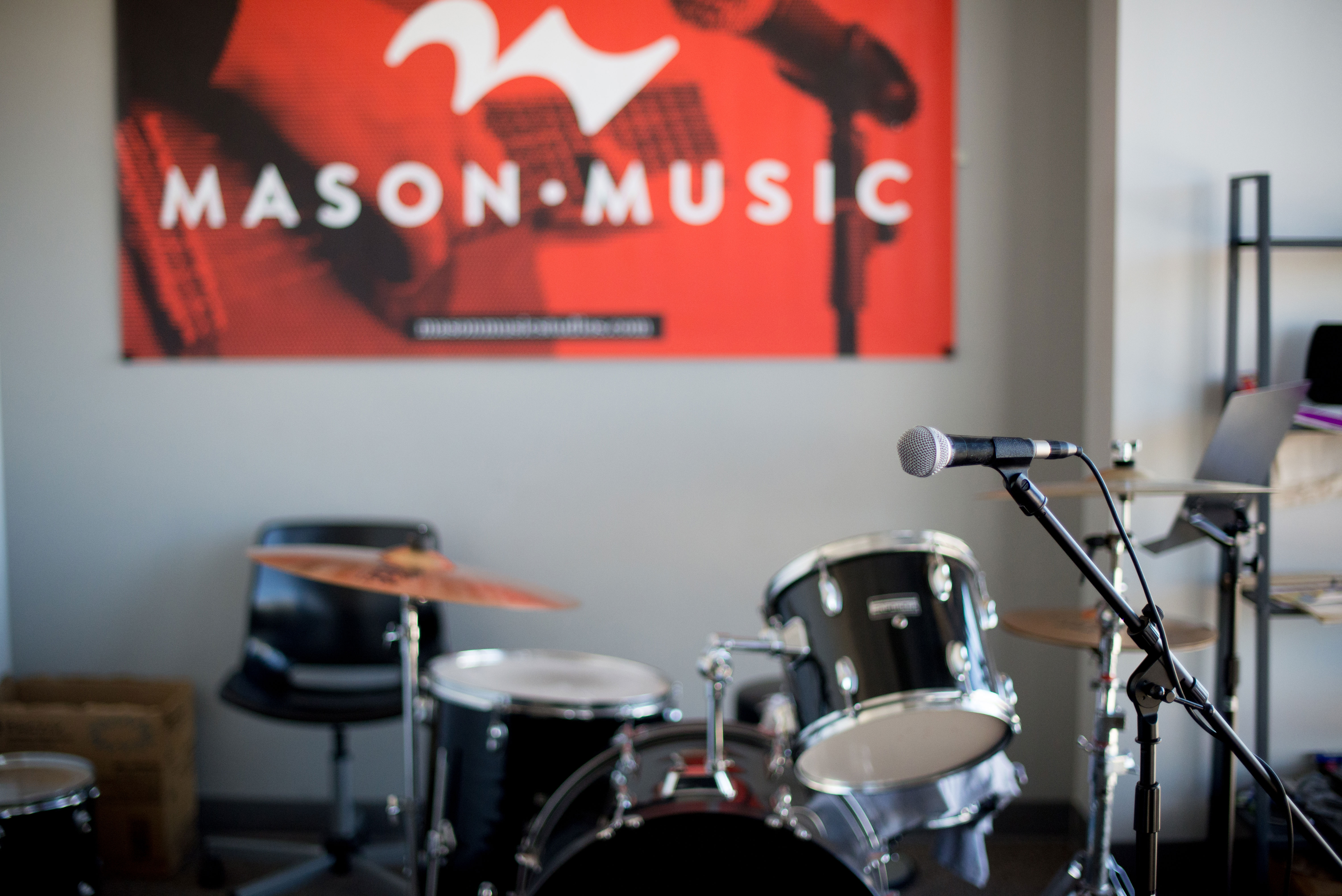 Take Drum Lessons at Mason Music in Birmingham, Alabama.