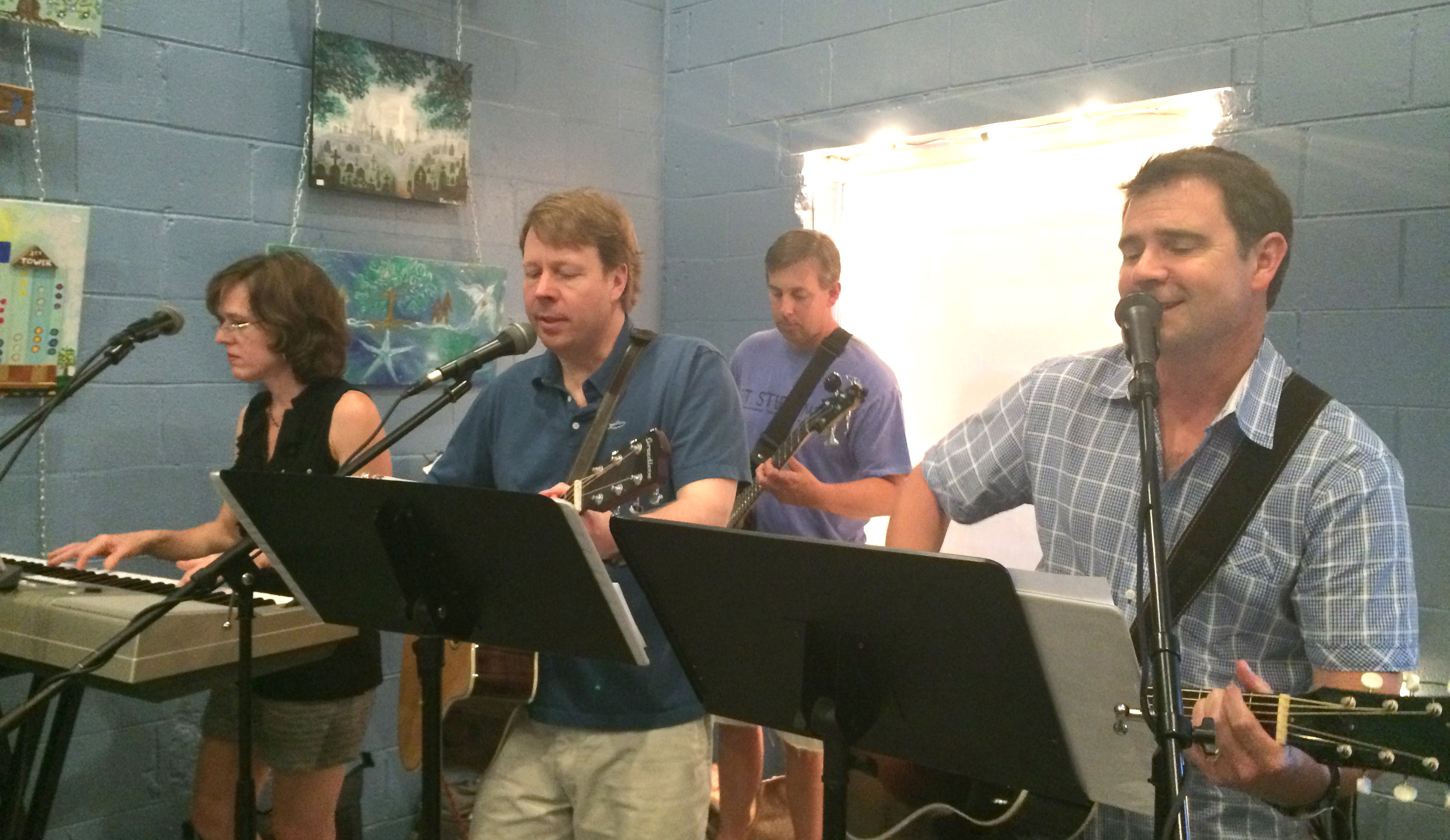 D.R. Dunlap is an adult who takes voice and guitar lessons at Mason Music.