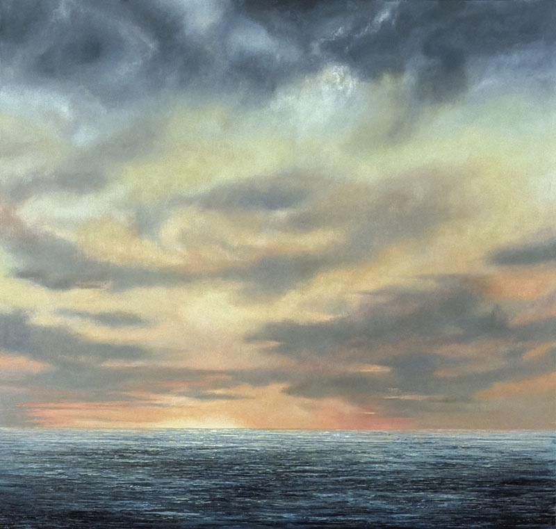 """Sea Dawn Oil on linen, 70"""" x 68"""" 1989"""