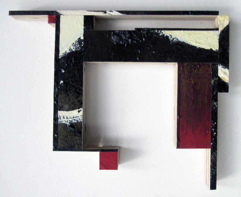 "Spangle XVI  Oil, powdered pigment, paper, 3/4"" birch ply, 14"" x 11"" 2004"