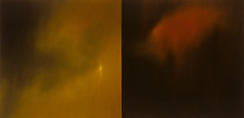 """Voices III Oil on linen 36"""" x 72"""" 2006-13"""