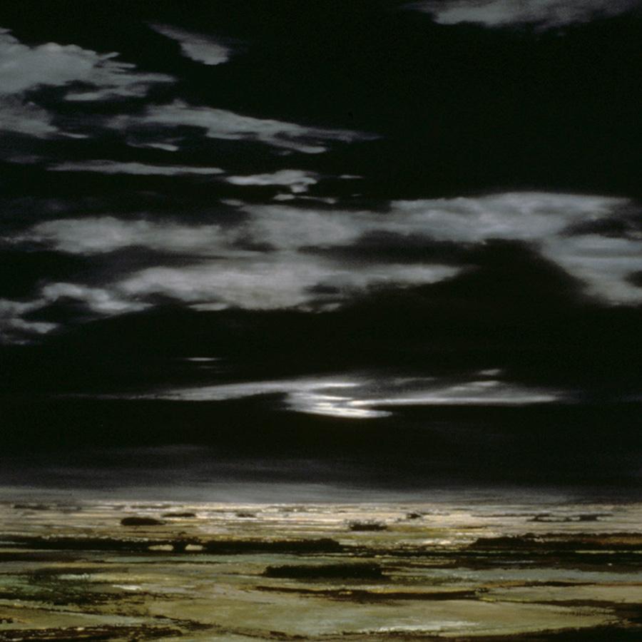 """Moonrise 44"""" x 42"""" 1999"""