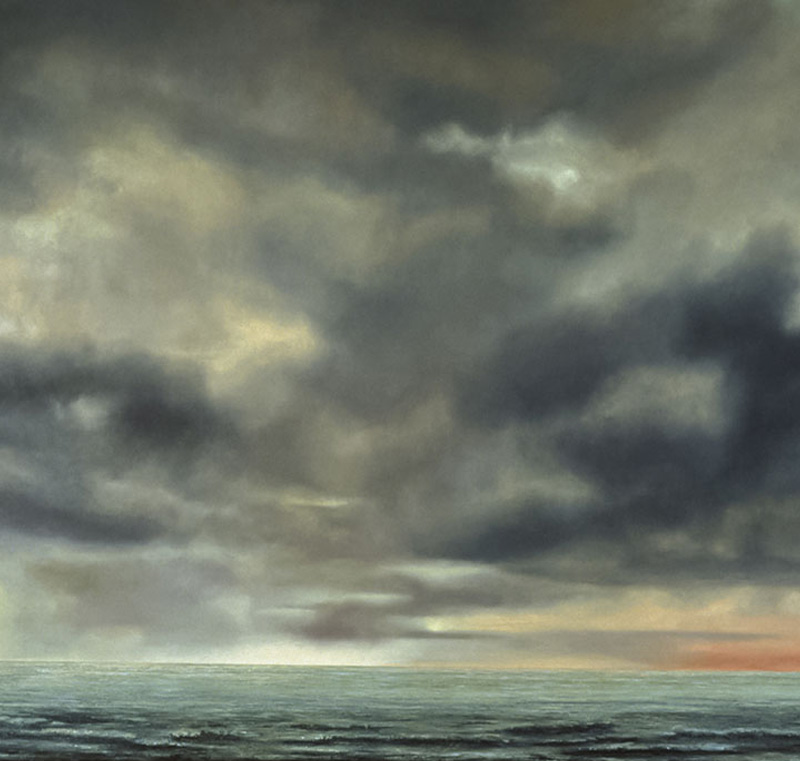 """Sea Clouds Oil on linen, 56"""" x 70"""", 1989"""