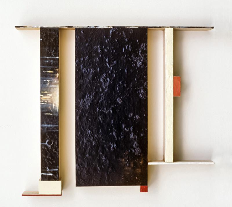 "Spangle XI  Oil, powdered pigment, paper, 3/4"" birch ply,  14"" x 11""  2004"
