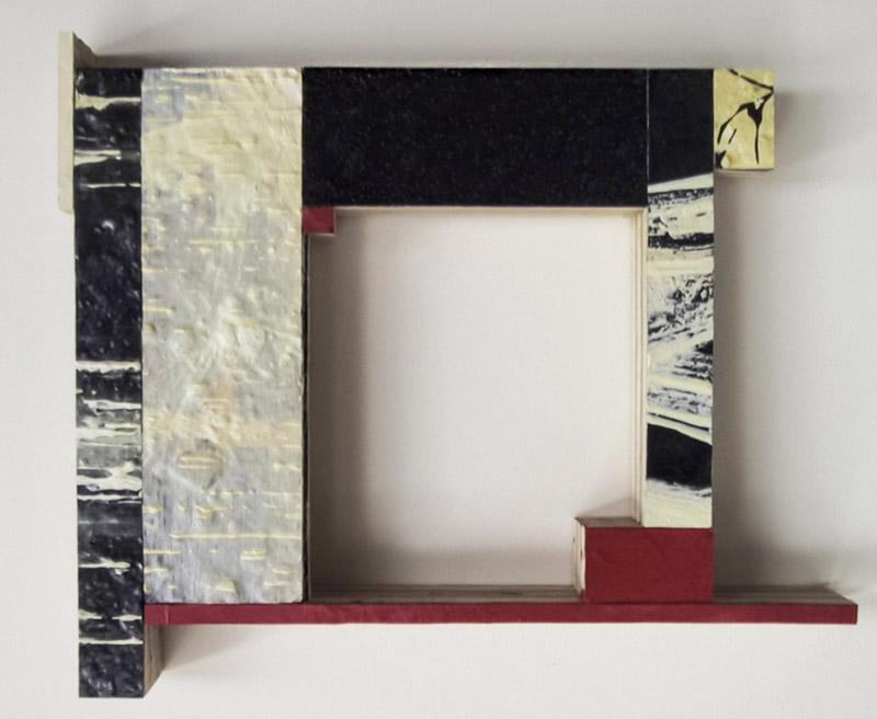 """Spangle VI  Oil, powdered pigment, paper, 3/4"""" birch ply, 14"""" x 11""""  2004"""