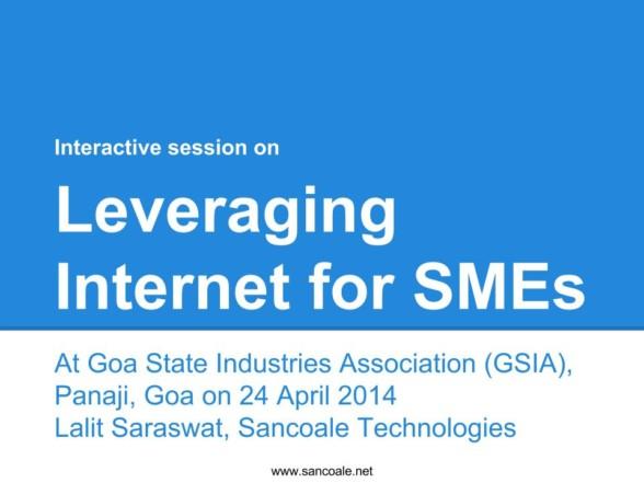 Leveraging Internet for SMEs