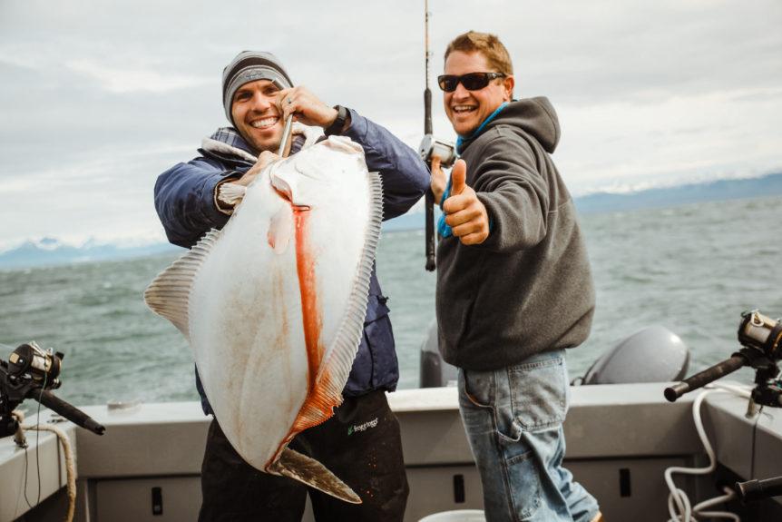 Friends enjoying Alaska fishing with Alaskan Anglers.