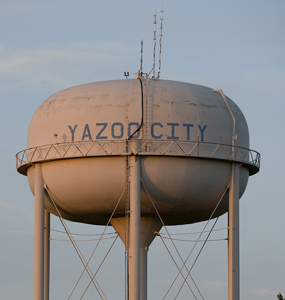Watertower in Yazoo City, Mississippi April 16, 2011.