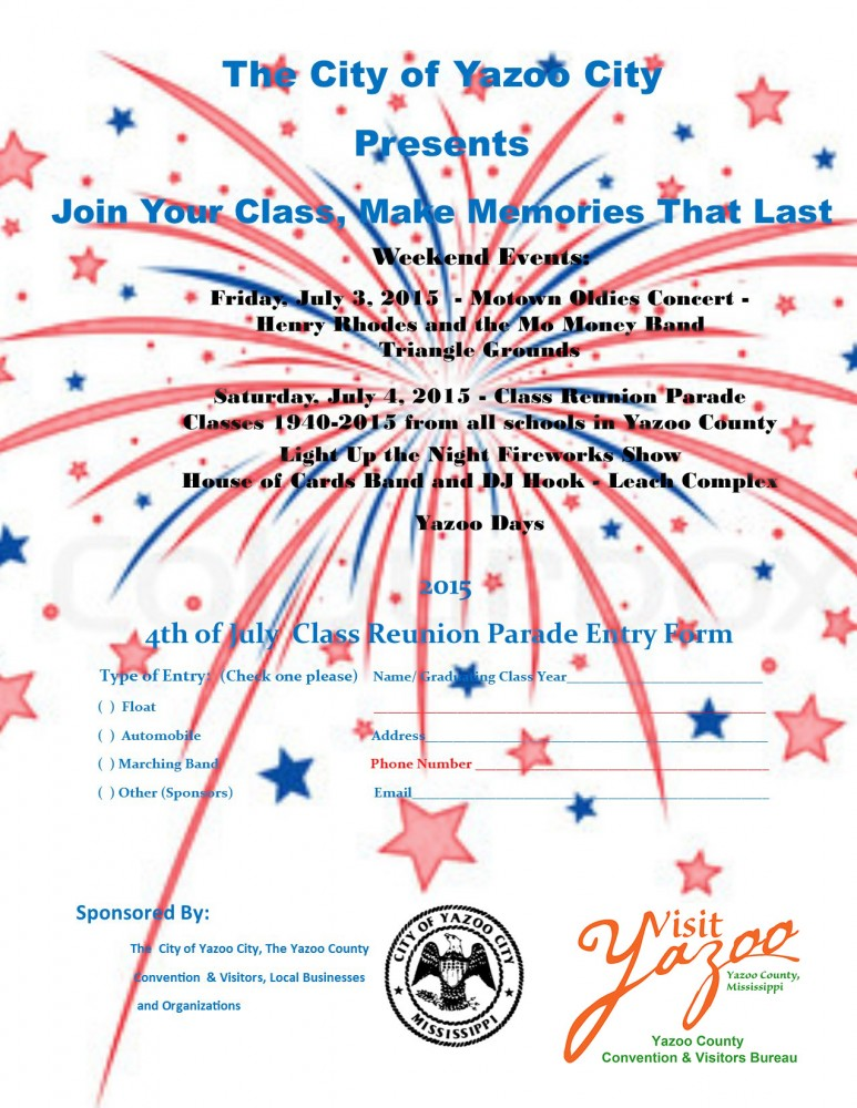 4th of July Class Reunion Parade Flyer 4