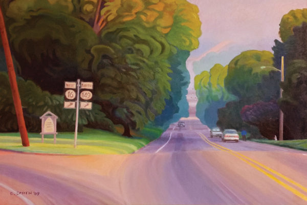 Broadway painting by Edd Smith 2009