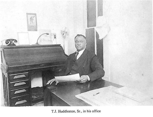 T J Huddleston Sr in his office WEB