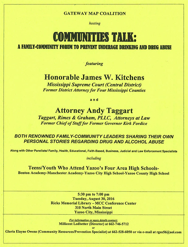 Communities Talk: A Family-Community Forum to Prevent Underage Drinking and Drug Abuse