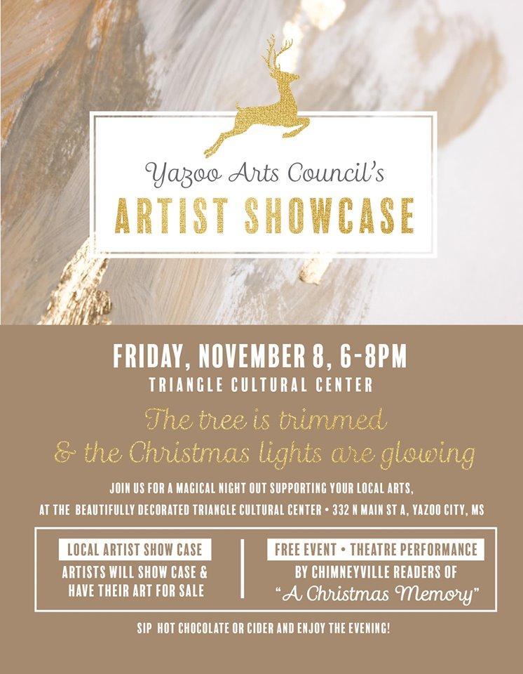 Yazoo Arts Council's Holiday Artist Showcase