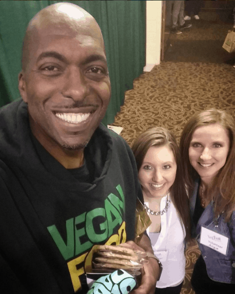 Hanging out with vegan, John Salley.