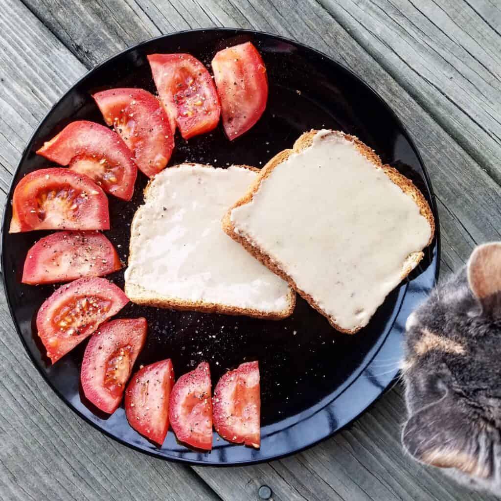 easy healthy breakfast tahini toast