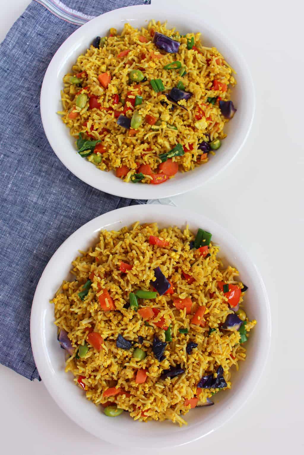 vegan low FODMAP fried rice
