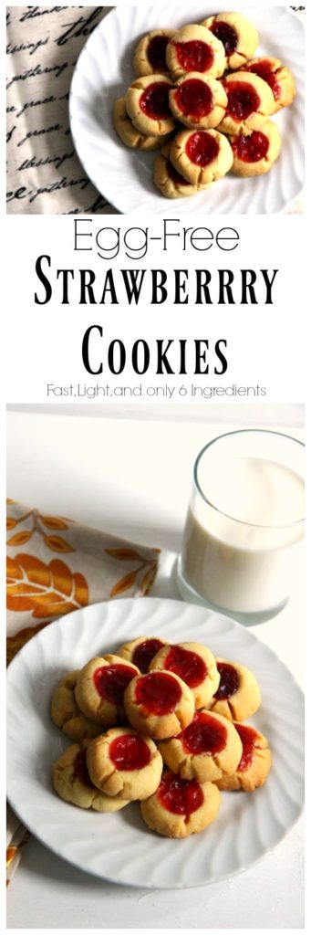 Egg Free Strawberry Cookies. Delicious little cookies that are fast to make and only 6 ingredients! Perfect for christmas treats, DIY gifts and when you just want one small treat.