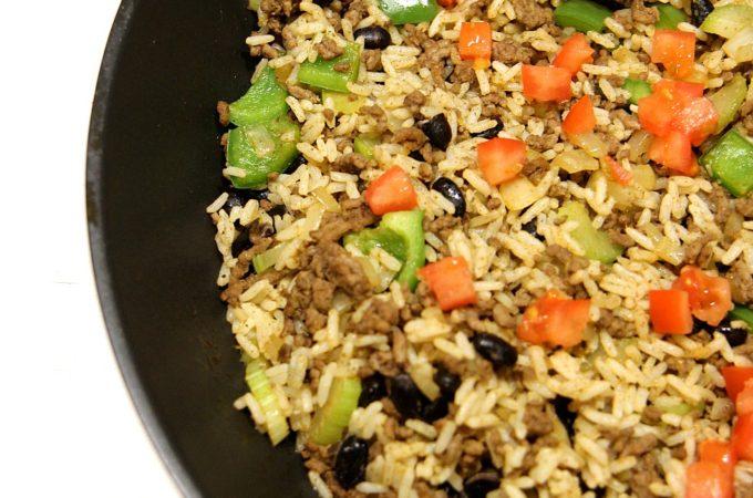 Double Veggie Dirty Rice
