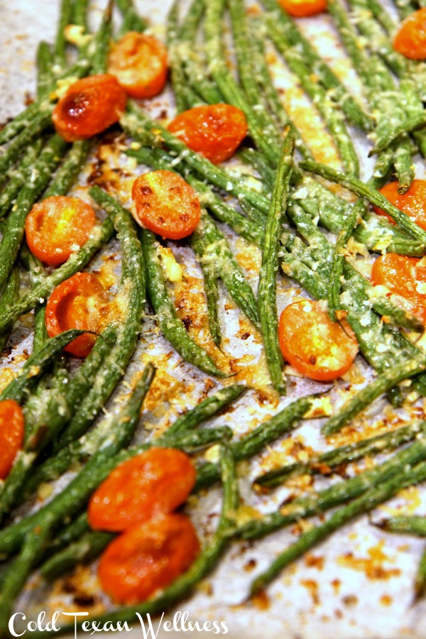 Roasted Parmesan Green Beans. A delicious, fast, simple side dish that goes with everything