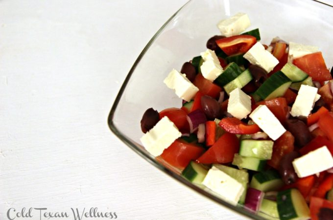 Rustic and Authentic Greek Salad