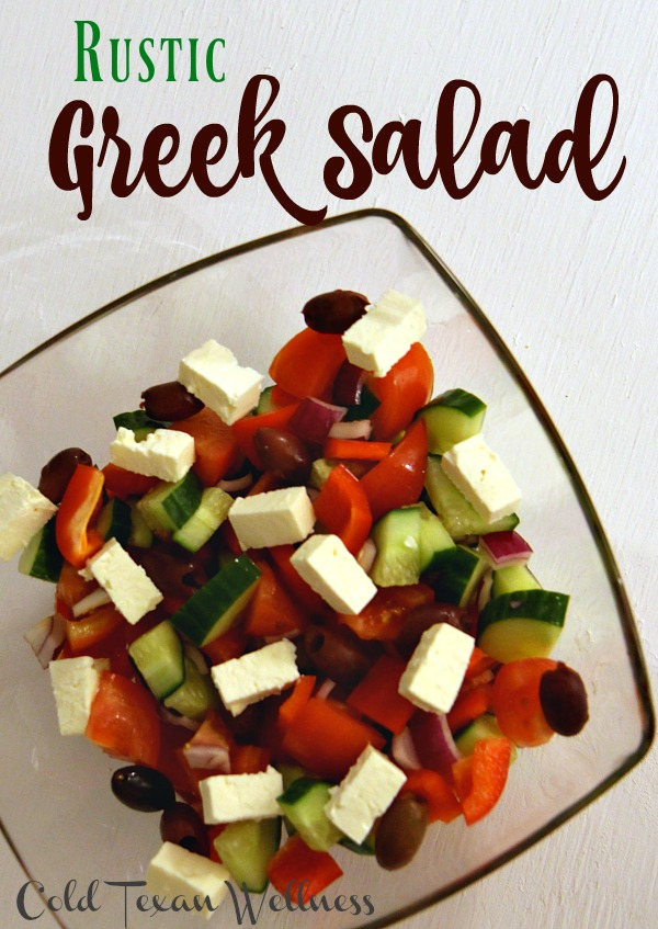 What's the one ingredient that you normally see in a salad that you DON'T see in a real Greek Salad? Rustic and Authentic Greek Salad.