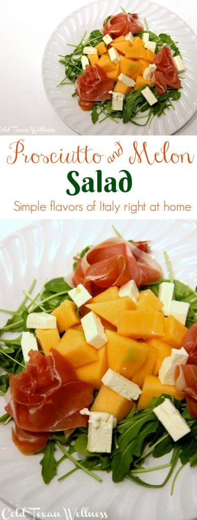 Prosciutto and Melon Salad. Get the simple flavors of Italy right at home. Gluten free, healthy, and quick to make.