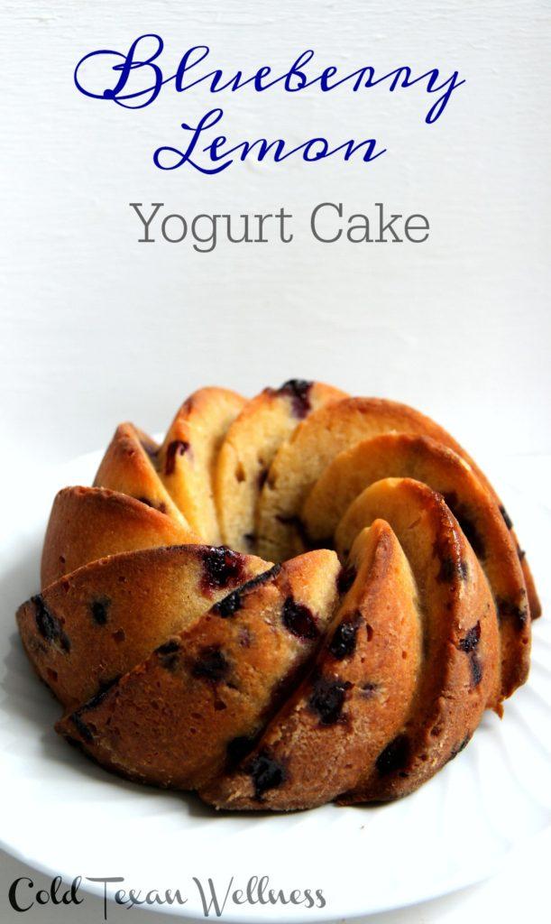 Blueberry Lemon Yogurt Cake is a favorite light and refreshing healthy baked treat!