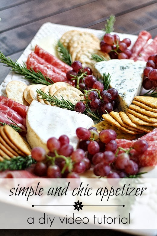 Homemade Romantic Dinners - Chic Meat & Cheese Platter