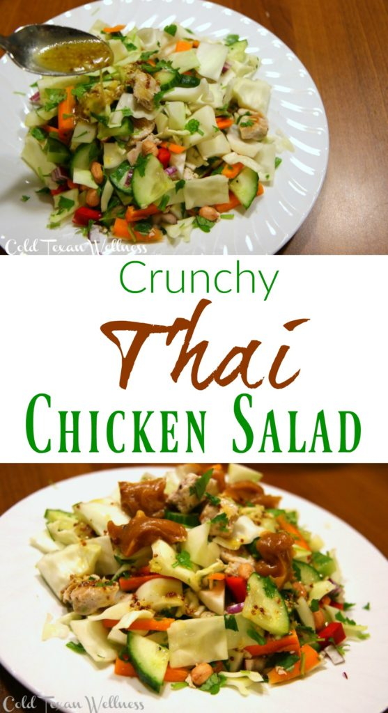 Crunchy Thai Chicken Salad is a great anytime healthy meal. A favorite for families. It can be used for lunches, dinners, picnics, potlucks, and so much more!
