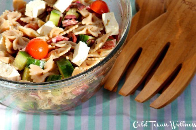 Healthy Mediterranean Pasta Salad