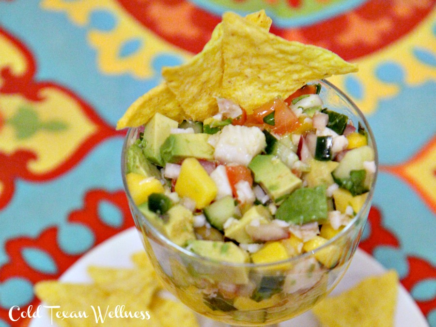 Zesty healthy tropical ceviche recipe