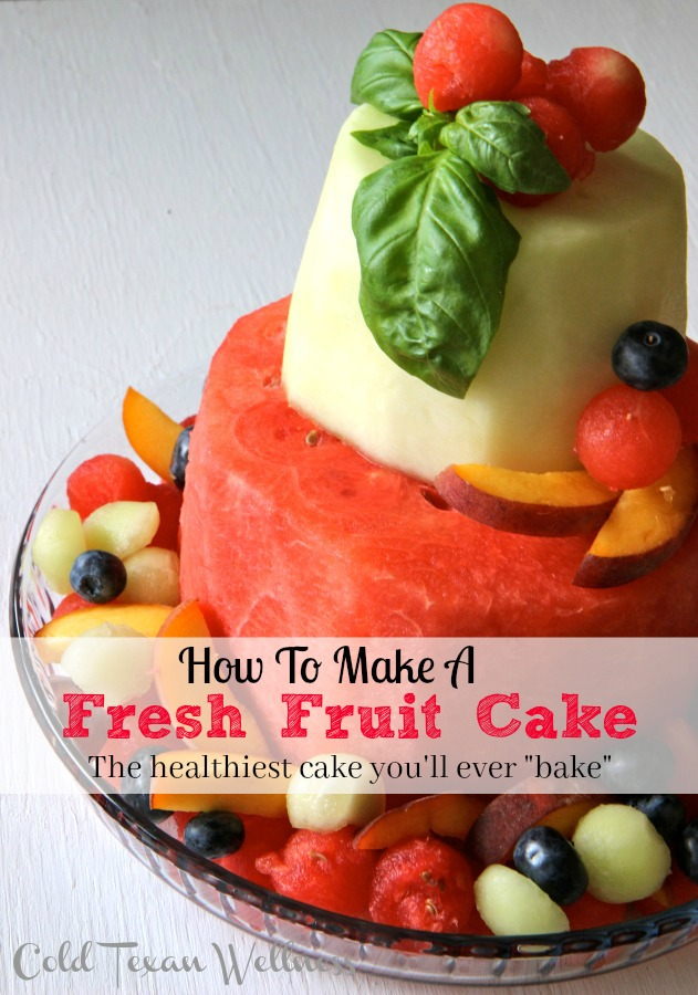"""How To Make a Fresh Fruit Cake. The healthiest cake you'll ever """"bake"""". Allergy friendly and fits ALL diets (vegan, paleo, whole 30, 21 day fix)"""