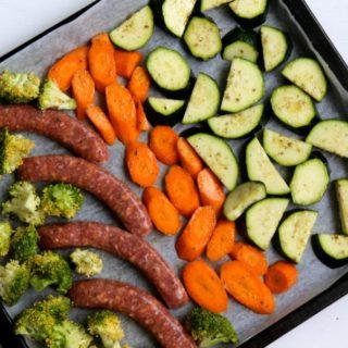 20 minute Sausage Sheet Pan Dinner