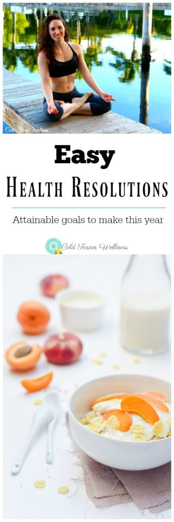 Reach your goals by making easy health resolutions! Attainable, small changes that make ALL the difference in the world! #health #healthyliving #healthyeating #resolutions #newyear