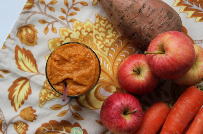 A Cinnamon Sweet Potato Smoothie might sound unique, but it'll become your new favorite healthy breakfast smoothie. Promise. it fits most diets including Paleo, Vegan, Vegetarian, 21 Day Fix, and Whole 30. An easy make ahead breakfast or snack for the whole family. #healthybreakfast #makeaheadmeals #21dayfixapproved