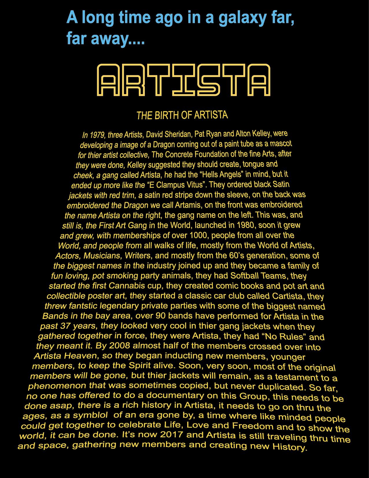 The Birth of Artista