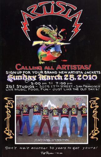 Calling All Artistas! Poster