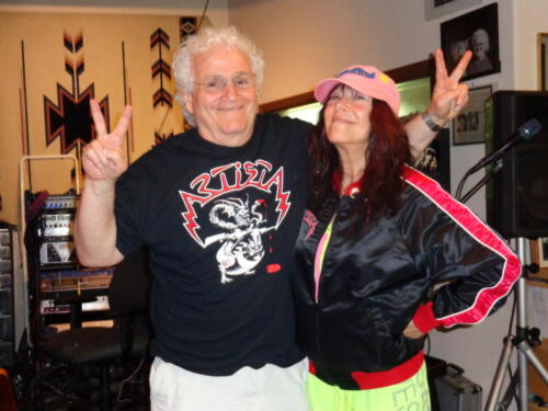 Artists David Starship Frieberg and Linda Imperial
