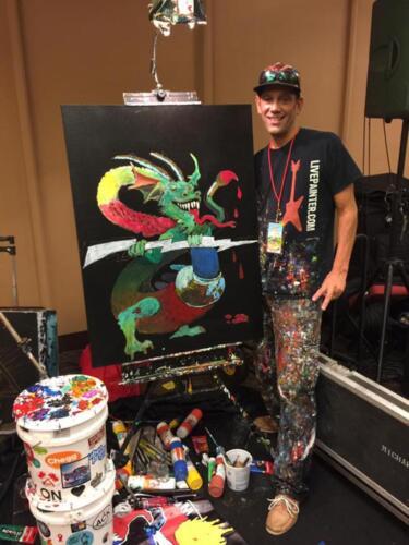 Neil the live painter