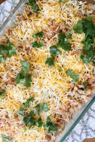 Healthy(ish) Taco Bake from A Life From Scratch