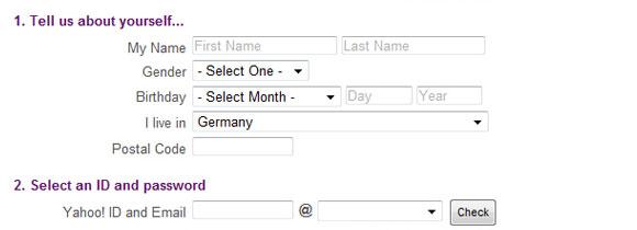 Patrones de diseño de formulario Web: Formularios de inscripción