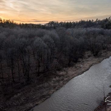 This is February? Sixteen Mile Creek hike.