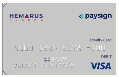 Plasma Donation Card