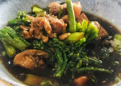 Braised Pork Belly with Greens