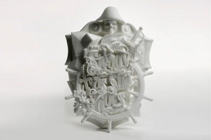 3D Printed Typographic Sculpture