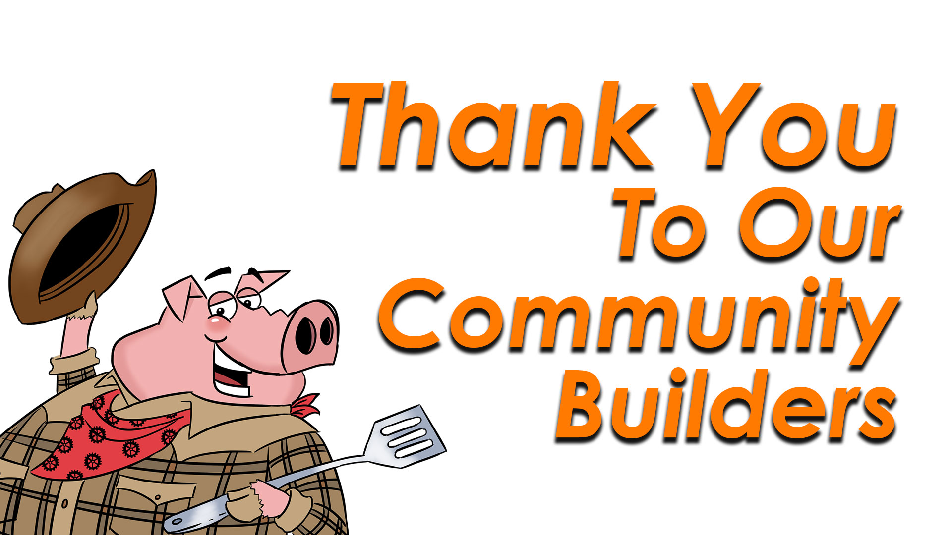 Thank you to our Community Builders