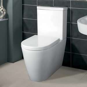 TOILET SUITE ROUND DESIGN BACK TO WALL S/P TRAP CERAMIC WATERMARK