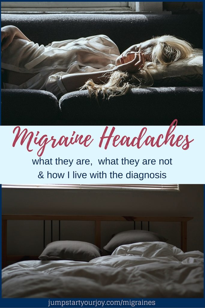 Migraine Headaches - what they are, what they are NOT, and how to deal with a diagnosis from a physical, emotional, and mental standpoint. Click to read, and Pin to save.