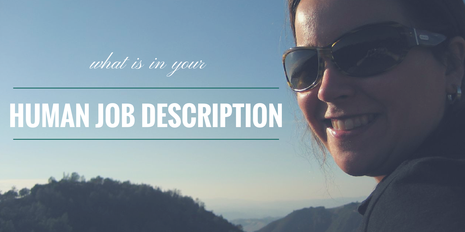 what's in your human job description?